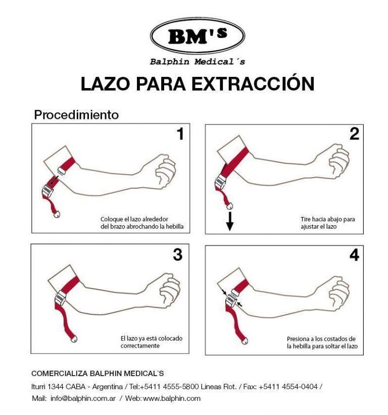 Lazos para extraccion de sangre